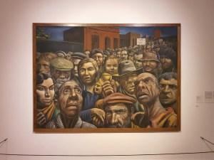 Antionio Berni (1905-1981), Manifestación, 1934. Foto fra utstillingen Siri Wolland.
