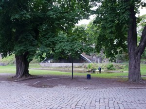 Karpedammen inne i Akershus festing. Foto Siri Wolland.