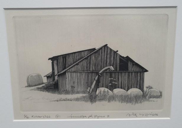 "Arild Yttri, ""Åmundløa på Øyane II"", 2018. Serie. Foto fra utstillingen Siri Wolland."