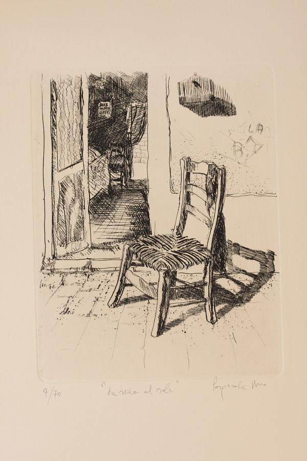 La sedia al sole (Pasquale Urso, acquaforte)