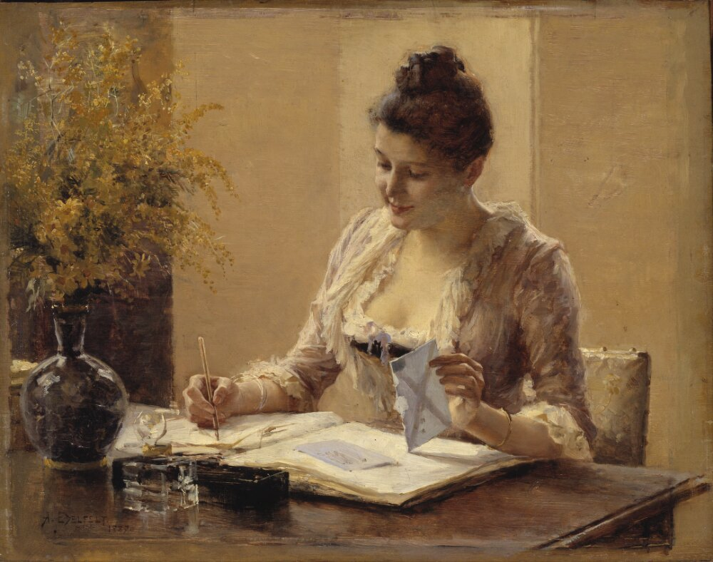 lady writing letter