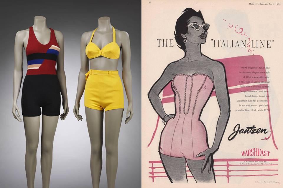 Victoria & Albert exposición ocean liners vestidos de baño