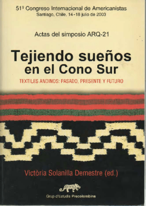 Portada del libro con una imagen de un tejido andino