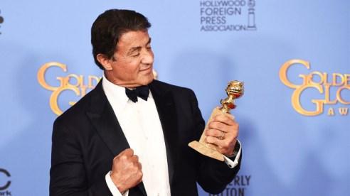 Mandatory Credit: Photo by Buckner/Variety/REX/Shutterstock (5528315bj) Sylvester Stallone 73rd Annual Golden Globe Awards, Press Room, Los Angeles, America - 10 Jan 2016