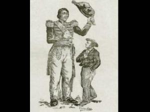 Dibujo del gigante con su hermano