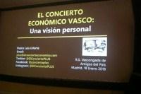 Concierto Vasco, conferencia