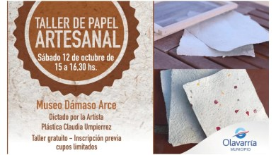 Photo of Taller de papel artesanal