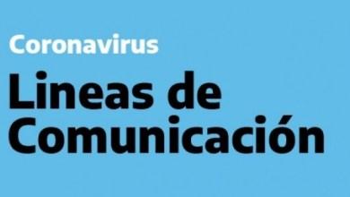 Photo of LINEAS DE COMUNICACIÓN POR CORONAVIRUS EN TANDIL