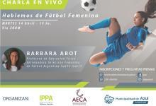 Photo of Charla en vivo sobre Fútbol Femenino