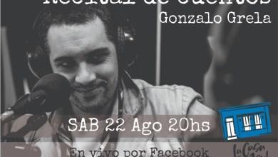 Photo of Nueva emisión del recital de cuentos de Gonzalo Grela, desde La Casa Azul Libros.