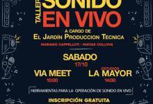 """Photo of Taller de Sonido en vivo a cargo de """"El Jardín Producción Técnica"""""""