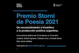 """Photo of ABRIÓ LA CONVOCATORIA DEL PREMIO """"STORNI"""" DE POESÍA"""