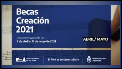Photo of BECAS DE CREACIÓN 2021 DEL FONDO NACIONAL DE LAS ARTES
