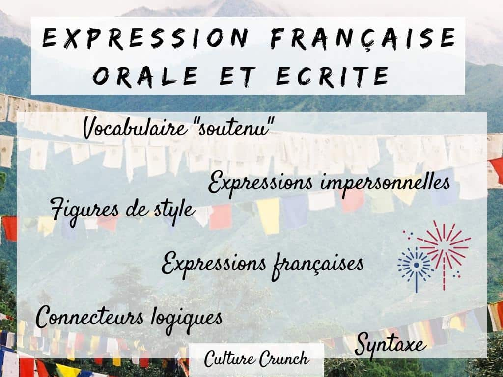 EXPRESSION ORALE ET ÉCRITE FRANÇAISE SOUTENUE : les fondamentaux