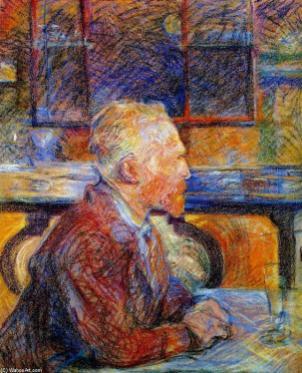 Henri-De-Toulouse-lautrec-Portrait-of-Vincent-van-Gogh