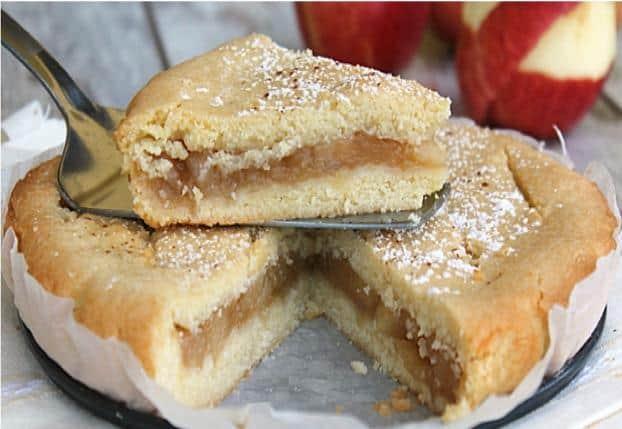 gâteau au coeur pommes