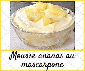 mousse ananas