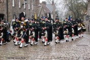 Remembrance Day parade in Aberdeen