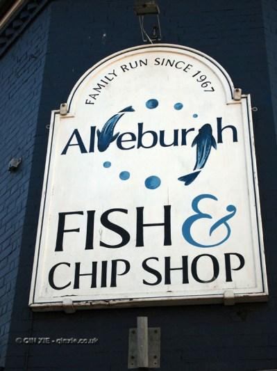 Aldeburgh fish and chip shop, Aldeburgh, Suffolk