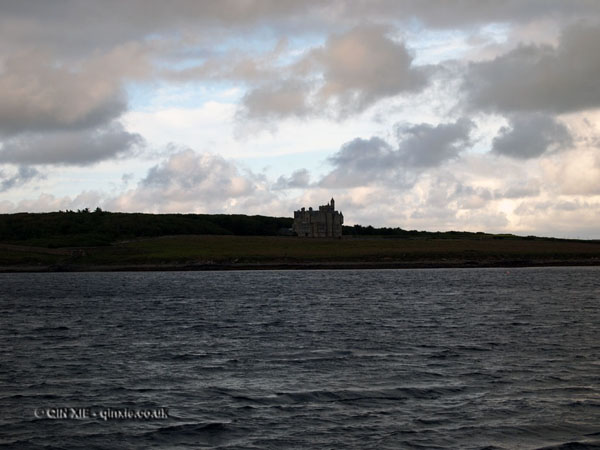 Balfour Castle in the distance