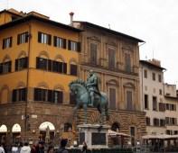 Bronze equestrian statue of Cosimo I, Florence, Italy