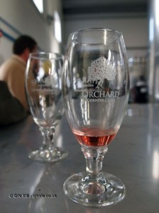 Cornish orchard cider glass in Cornwall