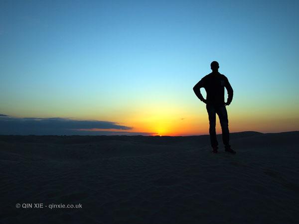 Desert sunset, Tunisia