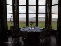Dining table at Balfour Castle