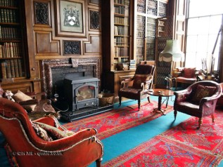 Fire in library at Balfour Castle