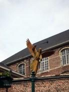 Gas mask angel, Ghent, Belgium