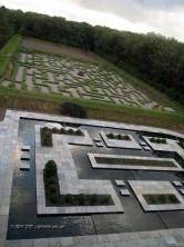 Maze in landscaped garden at Balfour Castle