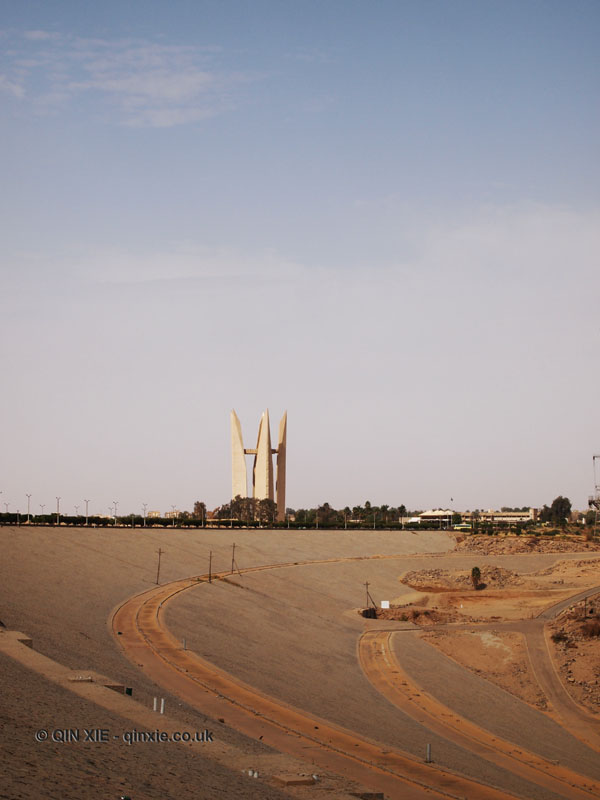 Russian monument at High Dam at Aswan