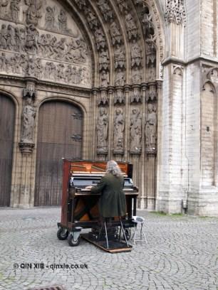 Playing piano, Antwerp, Belgium