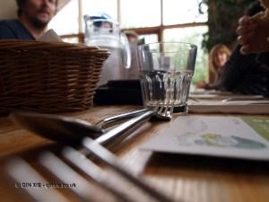 Riverford Field Kitchen communal table at Riverord Organics