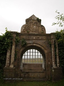 Stone gate at Balfour Castle