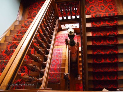 Winding stairwell at Balfour Castle