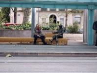 Woman with statue, Geneva
