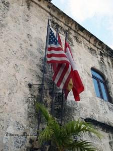 American flag, Santo Domingo, Dominican Republic