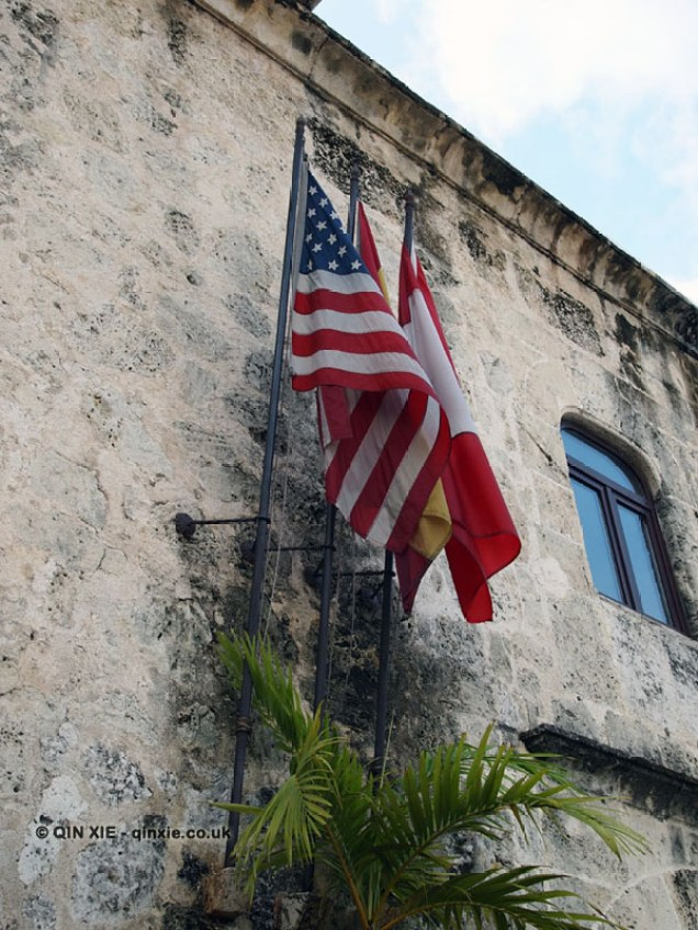 American flag, Santo Domingo, Dominican Republic