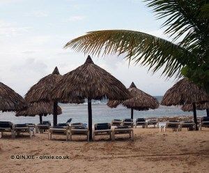 Beach huts, Dominican Republic