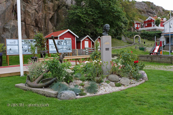 Ingrid Bergman tribute on Fjallbacka in Bohuslan, West Sweden