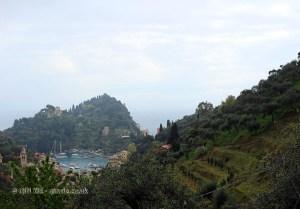 View from hills, Portofino