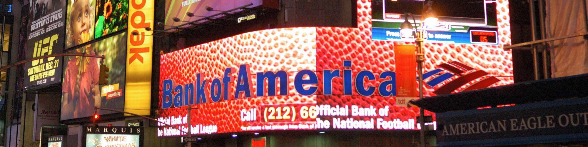 Der New York Times Square bei Nacht