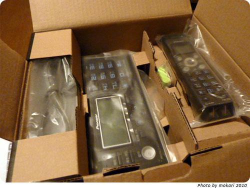 20100106-2 左利きの家族用電話機TF-FV3005-K(パイオニア)を買いました。