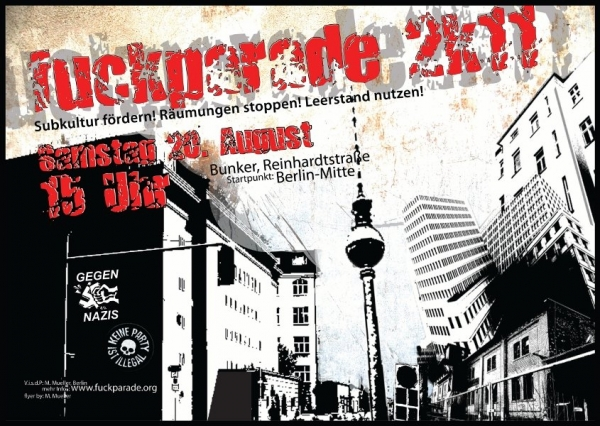 Fuckparade 2011 flyer