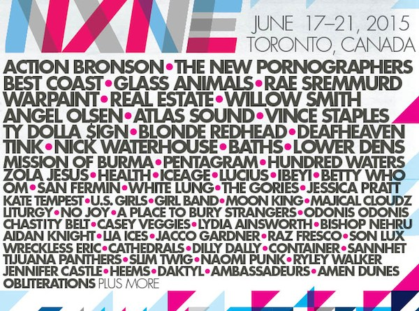 NXNE 2015 line-up poster