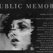 Public Memory tour poster