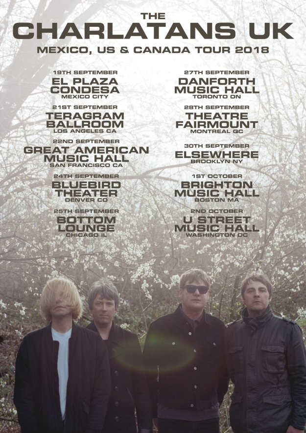 The Charlatans UK tour poster