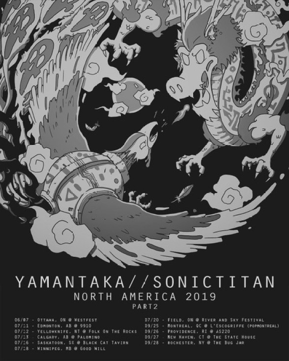 YAMANTAKA // SONIC TITAN NA tour poster
