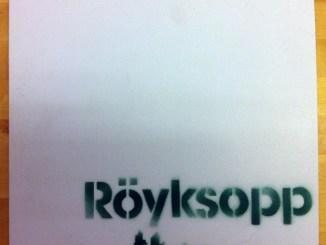 Banksy Röyksopp Record cover